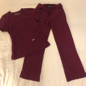 Used Women's Grey's Anatomy Wine Colored Scrubs